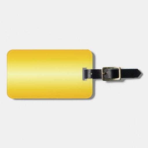 Pendiente eléctrica horizontal del amarillo y de l etiquetas maletas
