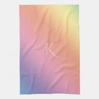 Pendiente en colores pastel con (o fuera) inicial toalla