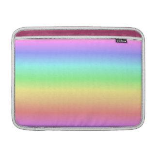 Pendiente en colores pastel del arco iris fundas para macbook air