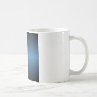 Pendiente horizontal del azul de acero y del negro tazas de café