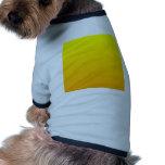 Pendiente linear de H - amarillo al naranja Camisetas De Perro