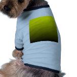 Pendiente linear de H - amarillo al negro Camiseta De Perro