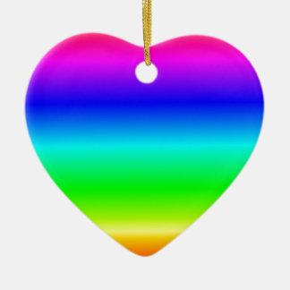 Pendiente linear de H - arco iris Adornos De Navidad