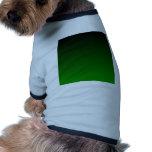 Pendiente linear de H - negro al verde Camiseta De Mascota
