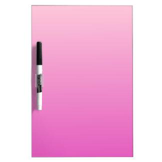 Pendiente linear de H - rosa clara al rosa oscuro Tablero Blanco