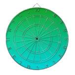 Pendiente linear de H - verde a ciánico Tabla Dardos