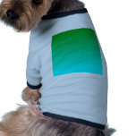 Pendiente linear de H - verde a ciánico Camisa De Mascota