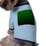 Pendiente linear de H - verde al negro Camisetas Mascota