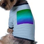 Pendiente linear de H - verde, ciánico, violeta Prenda Mascota