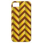 Pendiente marrón y amarilla iPhone 5 Case-Mate cárcasas