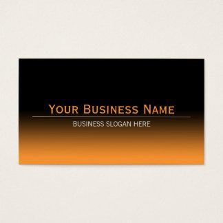 Pendiente negra y anaranjada moderna llana simple tarjetas de visita