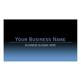 Pendiente negra y azul moderna llana simple tarjeta de visita