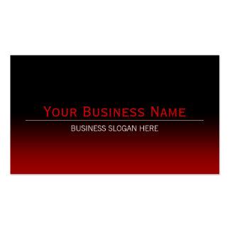 Pendiente negra y roja moderna llana simple tarjetas de visita