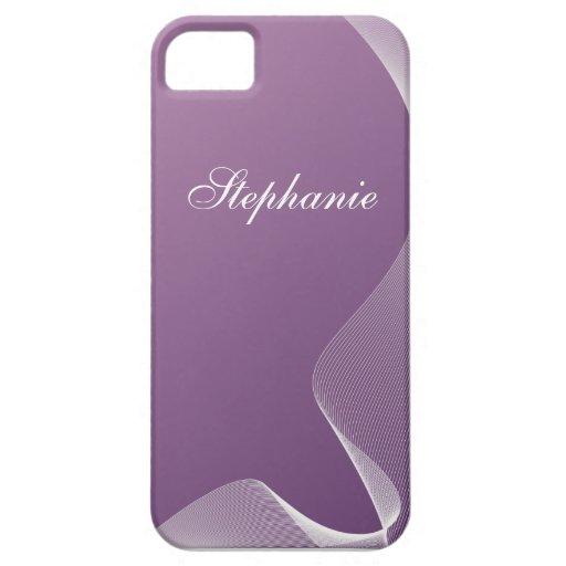 Pendiente púrpura de encargo de la curva funda para iPhone SE/5/5s