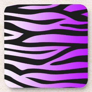 Pendiente púrpura del modelo de la cebra posavaso