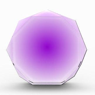 Pendiente radial - blanco y violeta