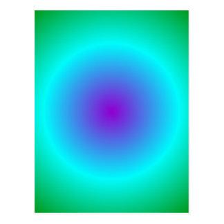 Pendiente radial - verde, ciánico, violeta tarjeta postal