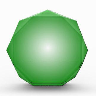 Pendiente radial - verde y blanco