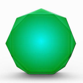 Pendiente radial - verde y ciánica