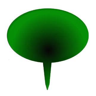 Pendiente radial - verde y negro figura de tarta