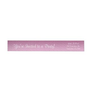 Pendiente reluciente rosada etiquetas para remite