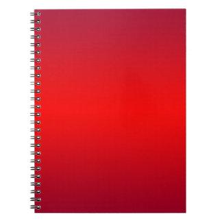 Pendiente roja nuclear - espacio en blanco de la cuaderno