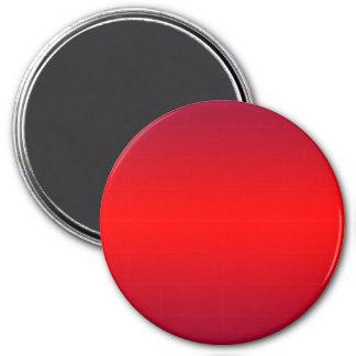 Pendiente roja nuclear - espacio en blanco de la imán redondo 7 cm