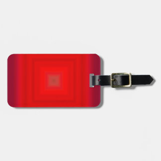 Pendiente roja nuclear - espacio en blanco de la p etiqueta de equipaje