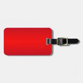 Pendiente roja nuclear - espacio en blanco de la p etiquetas maleta
