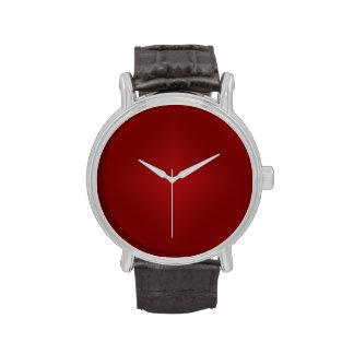 Pendiente roja sangre - plantilla rojo oscuro modi reloj