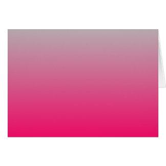 Pendiente rosada y gris tarjeta de felicitación