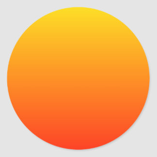 Pendiente soleada pegatina redonda
