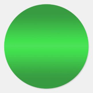 Pendiente verde clara - plantilla B de los verdes Pegatina Redonda
