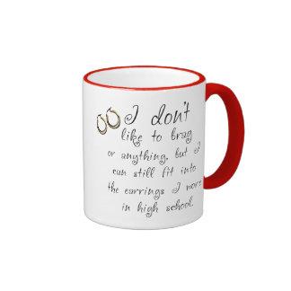 Pendientes cabidos taza de café