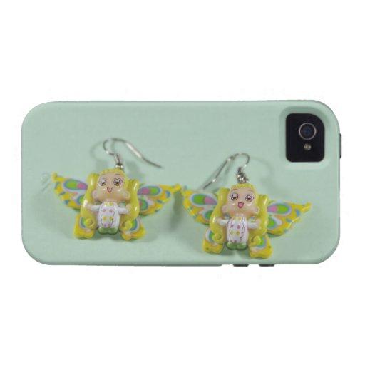 Pendientes de los ángeles iPhone 4 carcasa