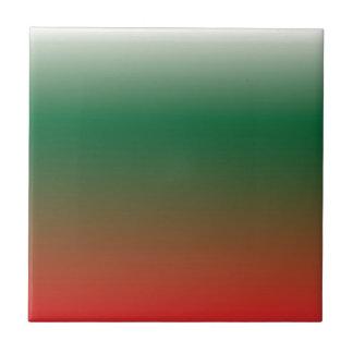 Pendientes verdes y rojas azulejo cuadrado pequeño