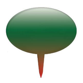 Pendientes verdes y rojas figuras de tarta