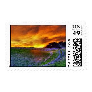Pending Rain Postage Stamp