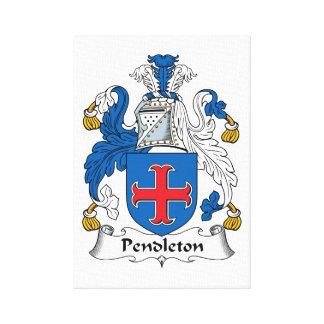 Pendleton Family Crest Canvas Prints