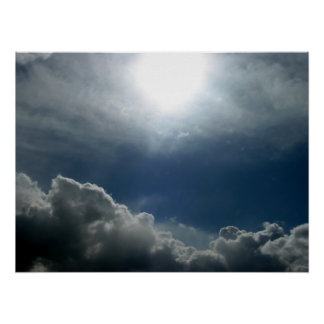 Pendleton Rays and Fluffy Clouds Poster