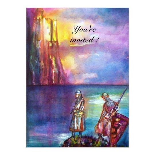 PENDRAGON Medieval Knights,Lake Sunset,Fantasy Card