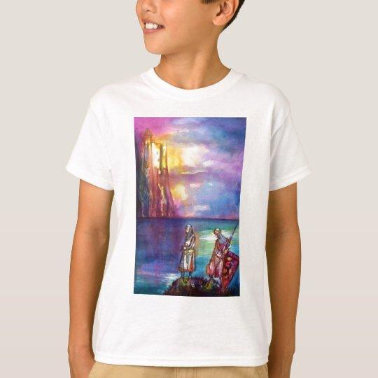 PENDRAGON Medieval Knights,Lake Sunset,Fantasy T-Shirt