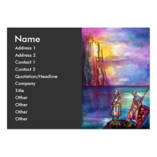 PENDRAGON purple yellow red blue white orange Large Business Cards (Pack Of 100)
