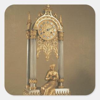 Pendule de París, c.1830 Pegatina Cuadrada