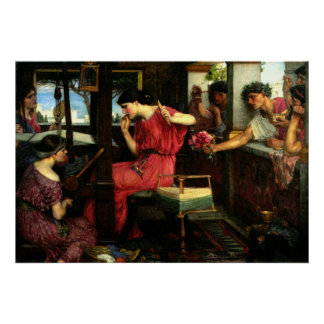 Penelope and the Suitors (1912) ~ Fine Art Canvas Poster