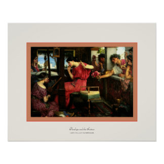 Penelope and the Suitors ~ John W.Waterhouse Poster