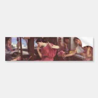 Penelope And The Suitors - John William Waterhouse Bumper Sticker