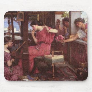 Penelope And The Suitors - John William Waterhouse Mousepad