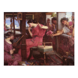 Penelope And The Suitors - John William Waterhouse Postcard