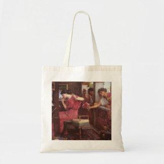 Penelope And The Suitors - John William Waterhouse Tote Bag